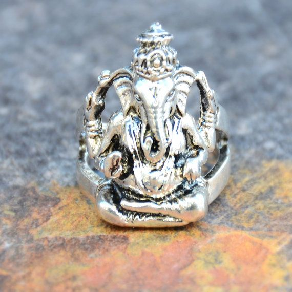 Ganesh Ring Buddha Mantra Ohm Jewelry buddha by StunnerCollective