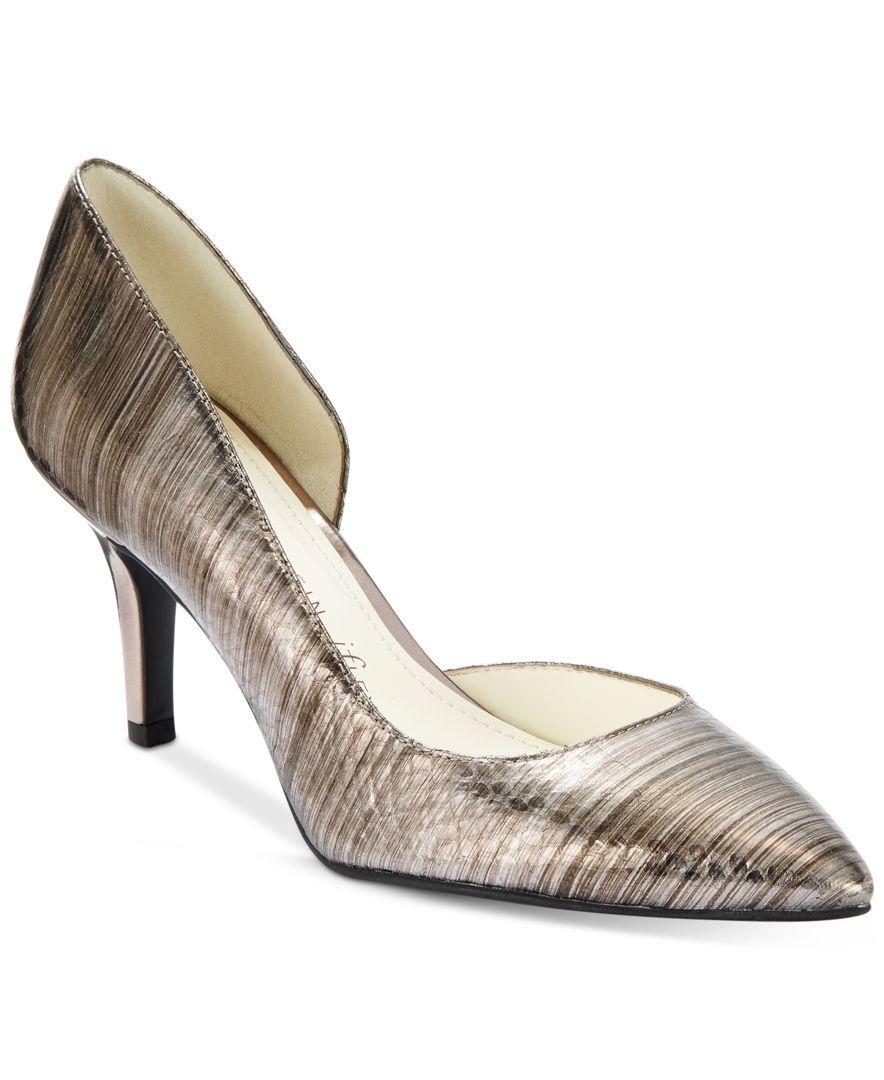 Womens Shoes Anne Klein Yolden Pewter Reptile