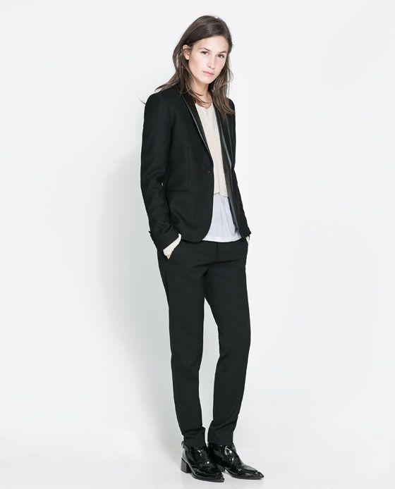 Overhemd Voor Pak.Zara Smoking Jasje Pak Voorbeeld Jasje Combineren Met Ruiten