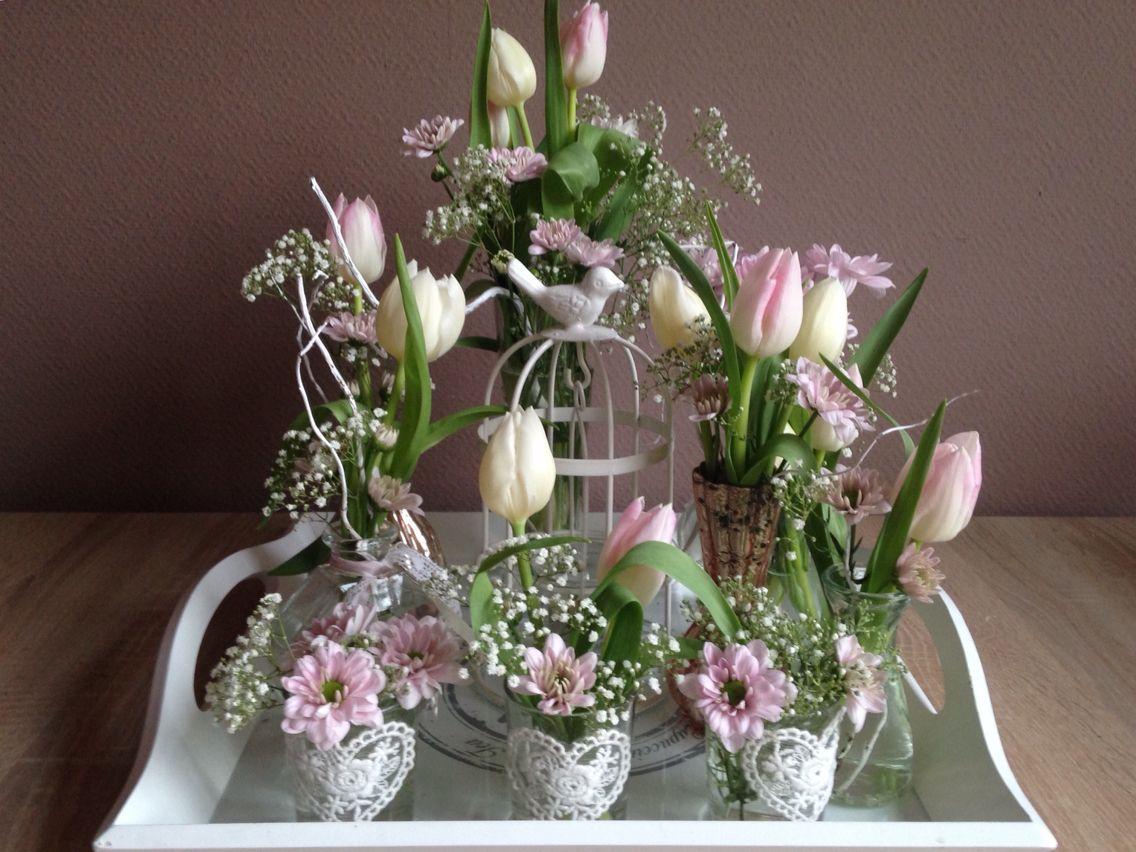 Voorjaarsdecoratie spring lente decoratie bloemen for Bloemen decoratie