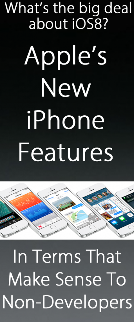 Apple Ios 8 Features In Terms That Make Sense Ios8 My Crazy Good Life Apple Ios New Iphone Features Iphone