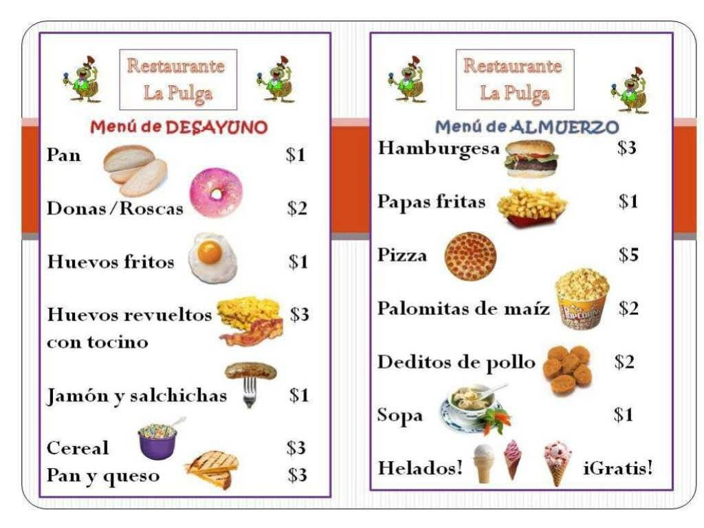 Spanish menu clipart clipart kid free mostly templates for Tapas menu template