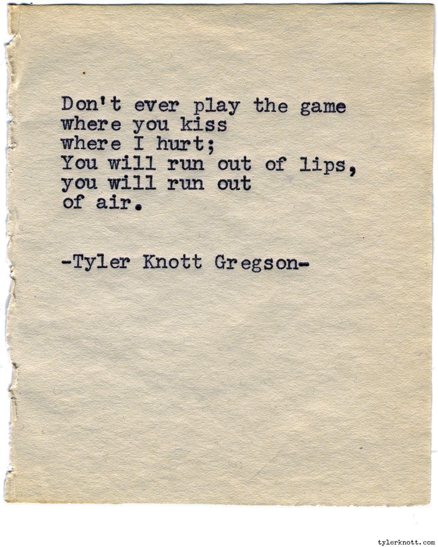 Typewriter Series 979 By Tyler Knott Gregsontyler Knott Gregson