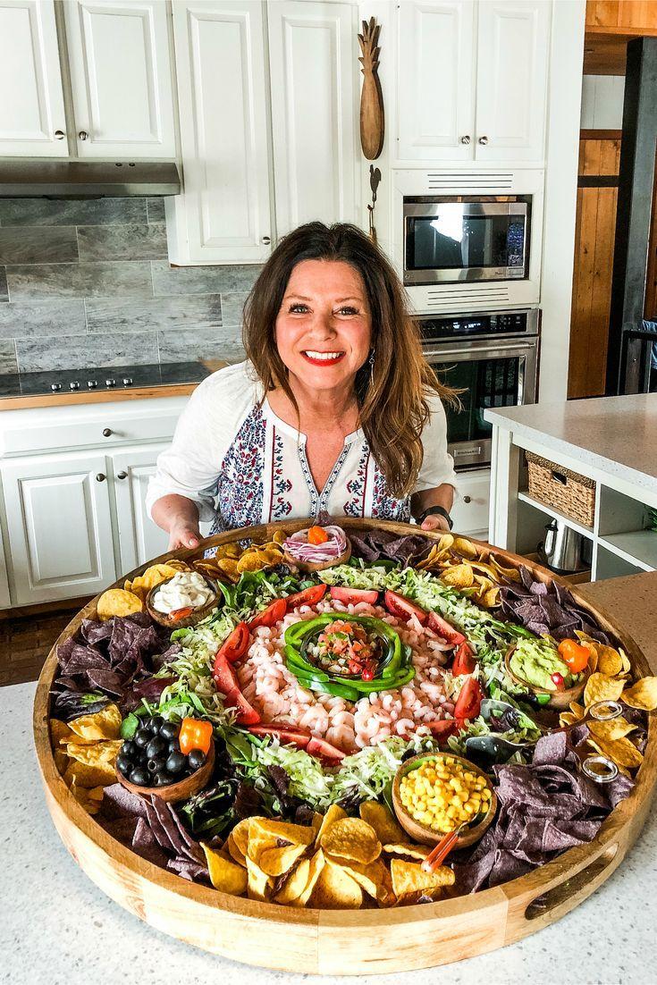 Mexican Shrimp Salad Board #mexicanboard #shrimpsalad - Hannah Gilbert #mexicanshrimprecipes