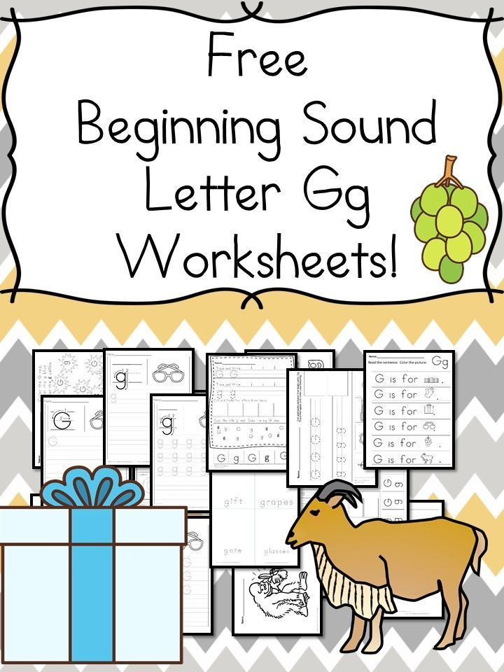 Beginning Sounds Letter G Worksheets