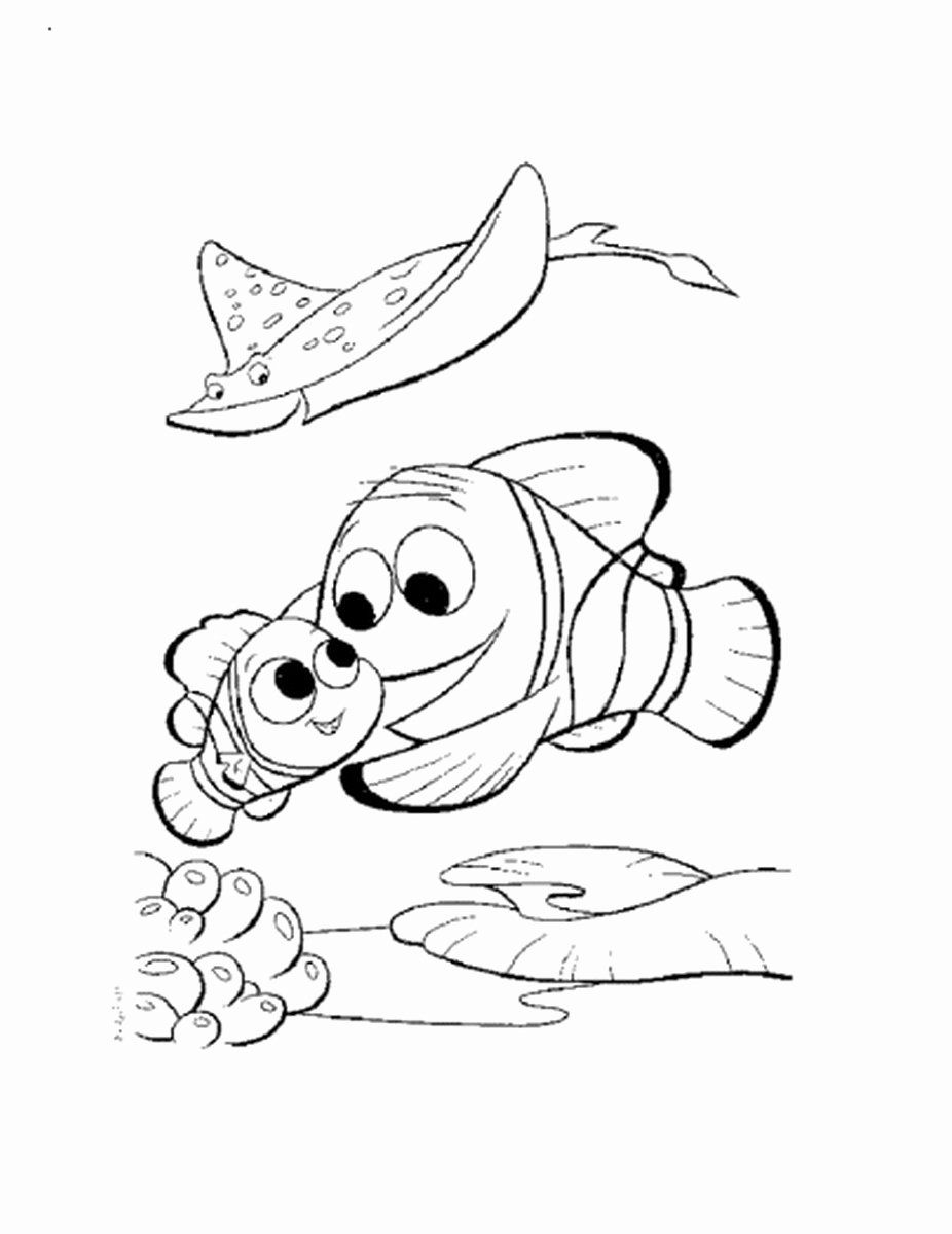 28 Finding Nemo Coloring Page in 2020 Finding nemo