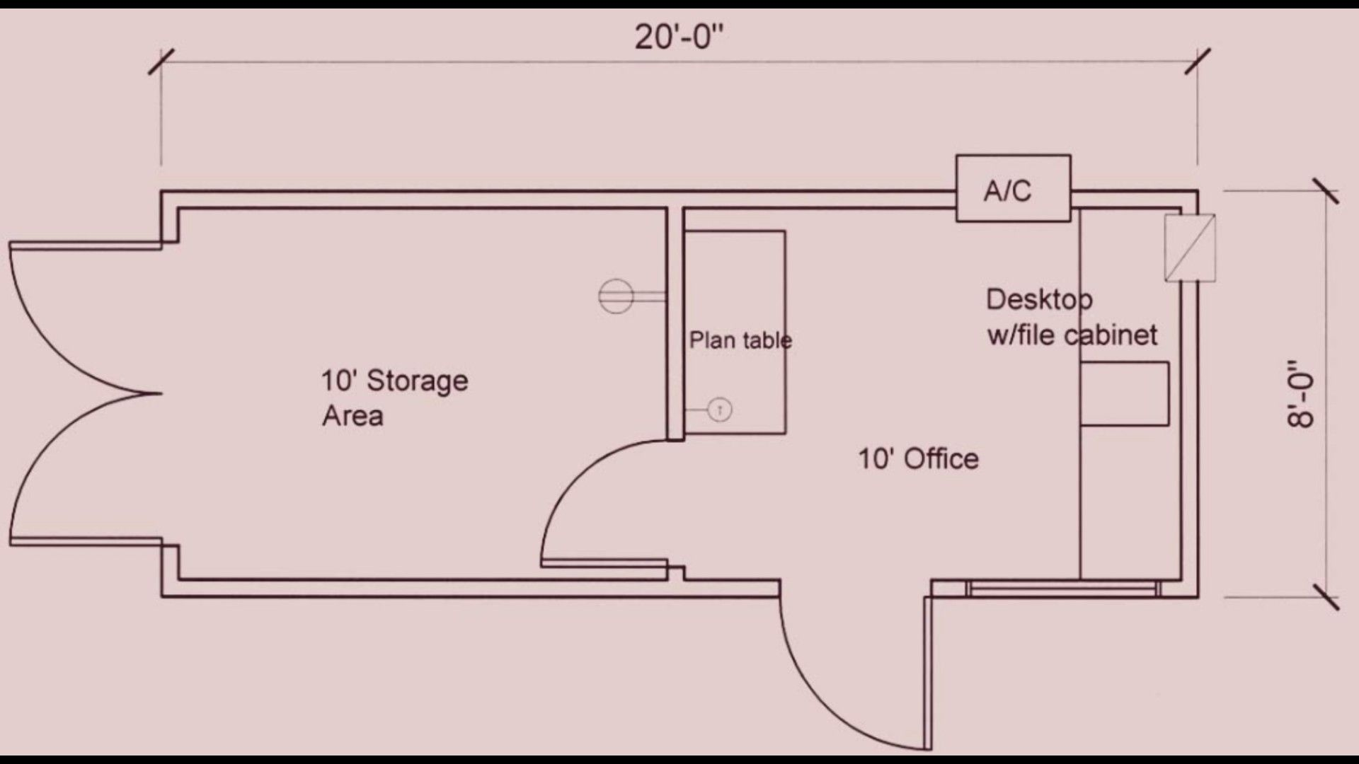 Layout For 20x8 Storage Container Office Container Office Container House Office Plan