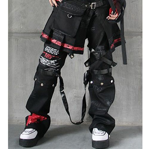 4 Piece Fashion Punk Rock Emo Gothic Clothing Pants Trousers Capris