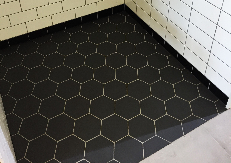 Hexagon noir Winckelmans 15x15 cm vloertegels