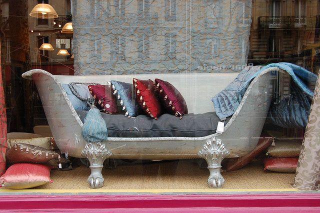 Clawfoot Bathtub Sofa Upcycled Furniture Furniture Furniture