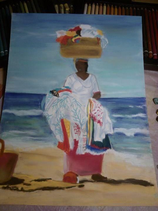 venditrice in spiaggia