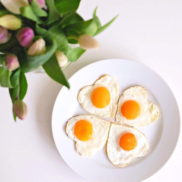 Happy Muttertag mit Herz und Spiegelei und so! #egg #mothersday #hearts