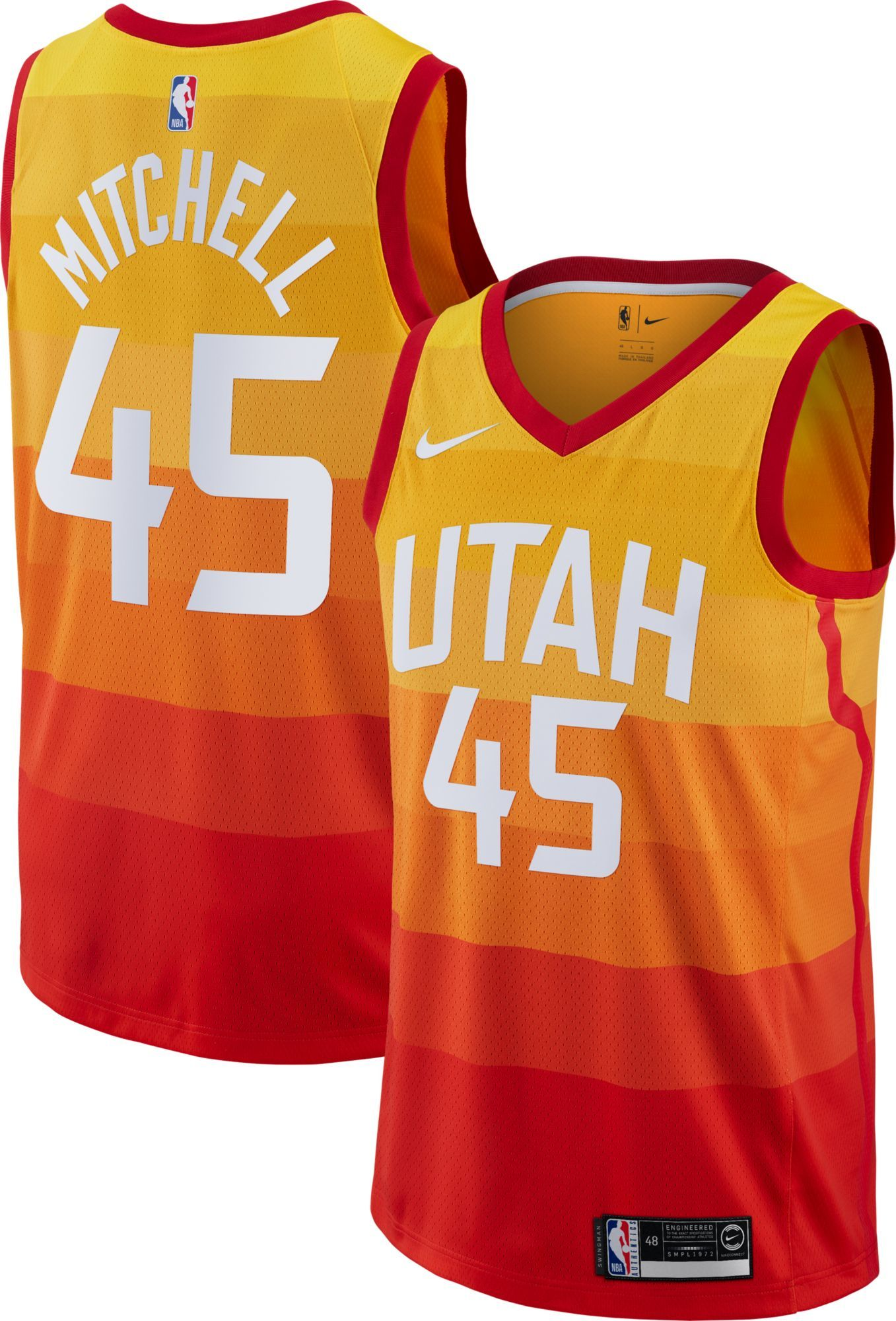 the best attitude 75aed 91252 Nike Men's Utah Jazz Donovan Mitchell Dri-FIT City Edition ...