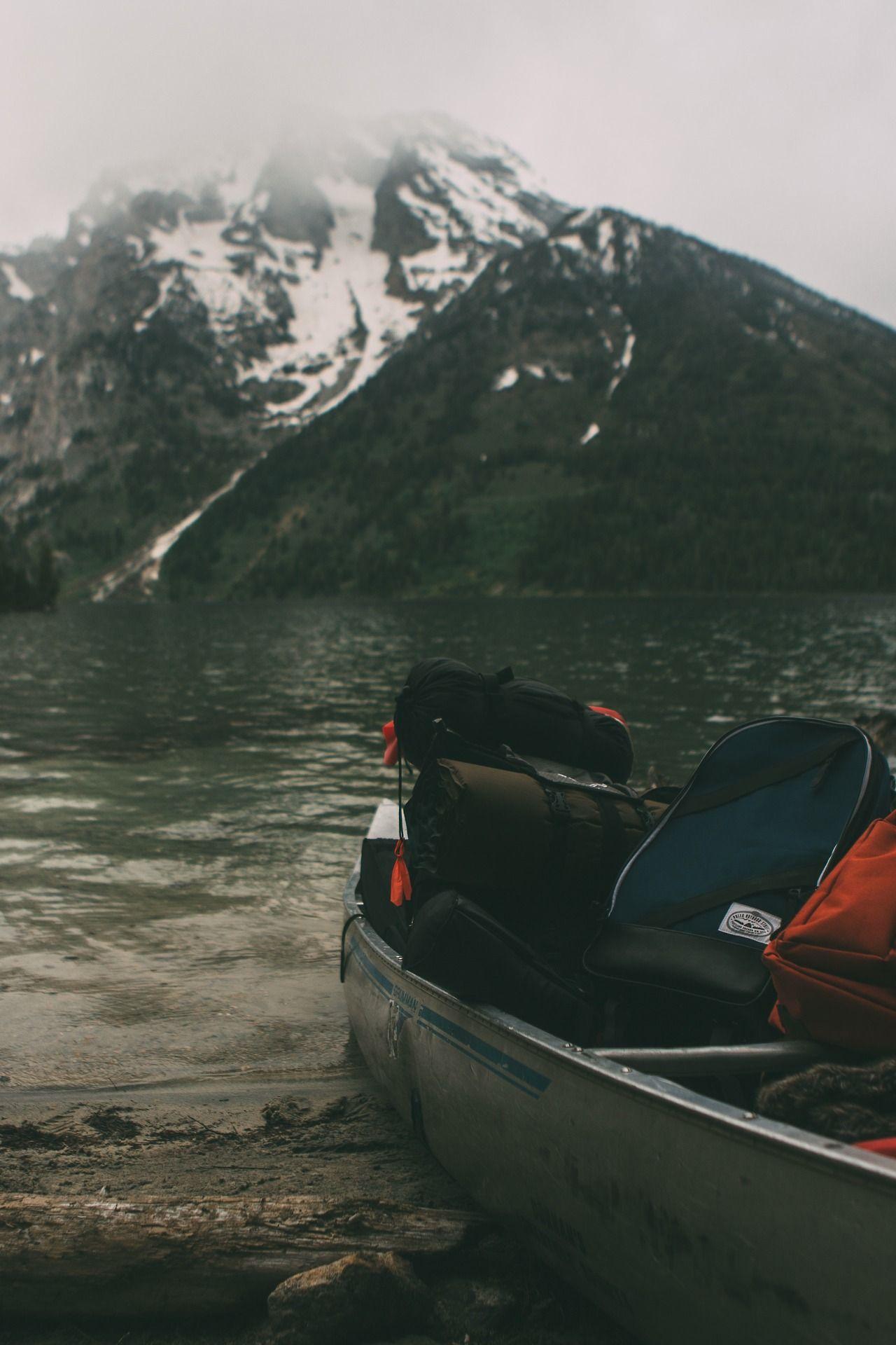 Boat amongst mountains