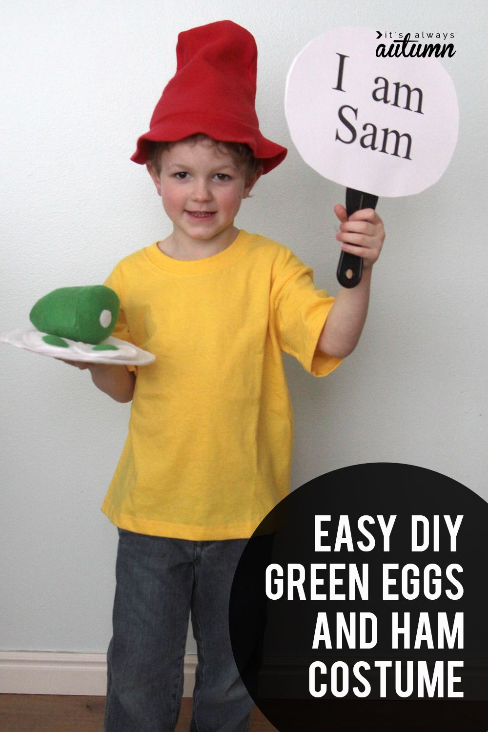 easy diy green eggs and ham costumes for dr. suess day in 2018