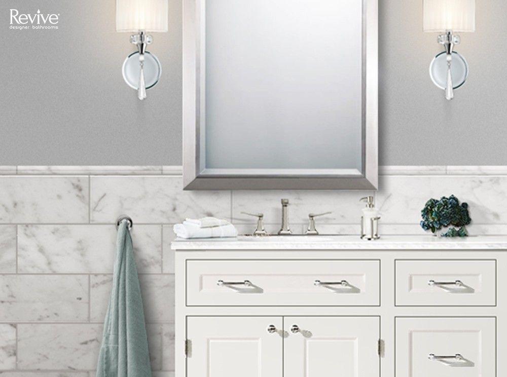 pin by revive designer bathrooms on the hamptons bathroom on custom bathroom vanity mirrors id=33058