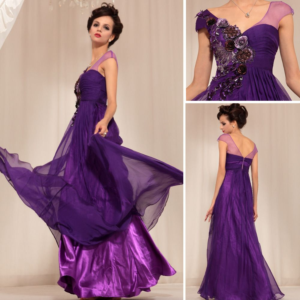 on sale dark purple colored brilliant applique flowers