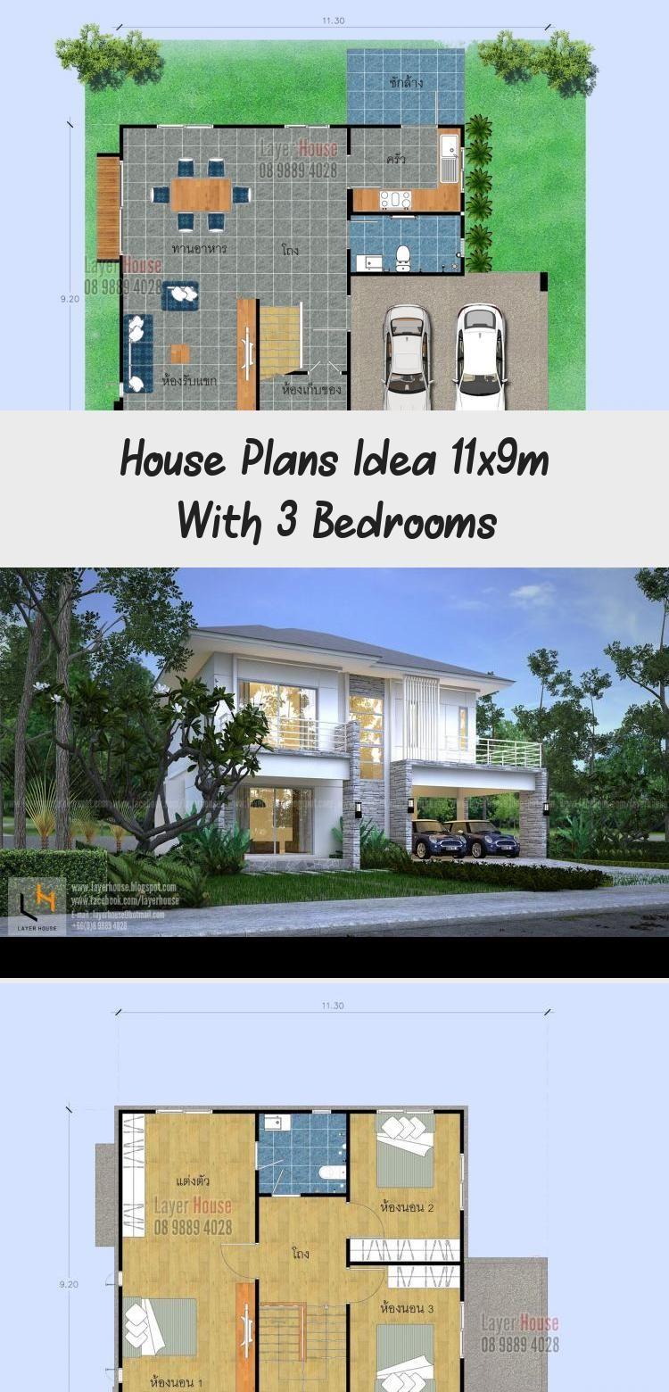House Plans Idea 11x9m With 3 Bedrooms Sam House Plans Modernhouseplansbungalow Modernhouseplanssims4 In 2020 House Plans Australia House Plans Modern House Plans