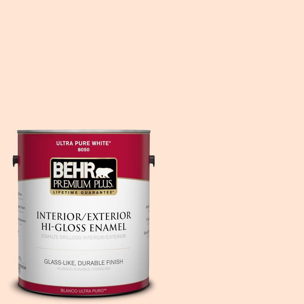 BEHR Premium Plus 1-gal. #290C-1 Serengeti Sand Hi-Gloss Enamel Interior/Exterior Paint