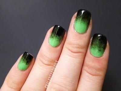 Festive Green Gradient Green Nails Nails Halloween Nails