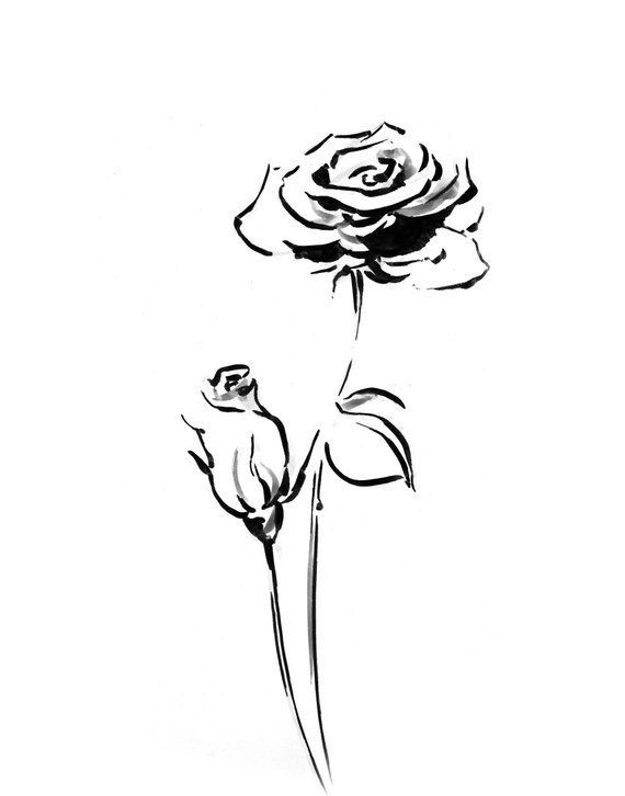 Minimalist Black And White Rose Fine Art Print For Wall