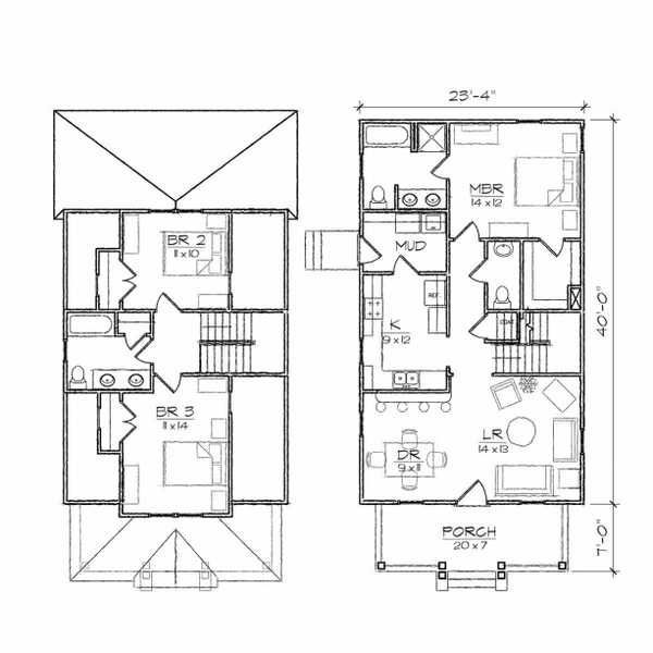 bungalow two story floor plans - Google Search | house exterior ...