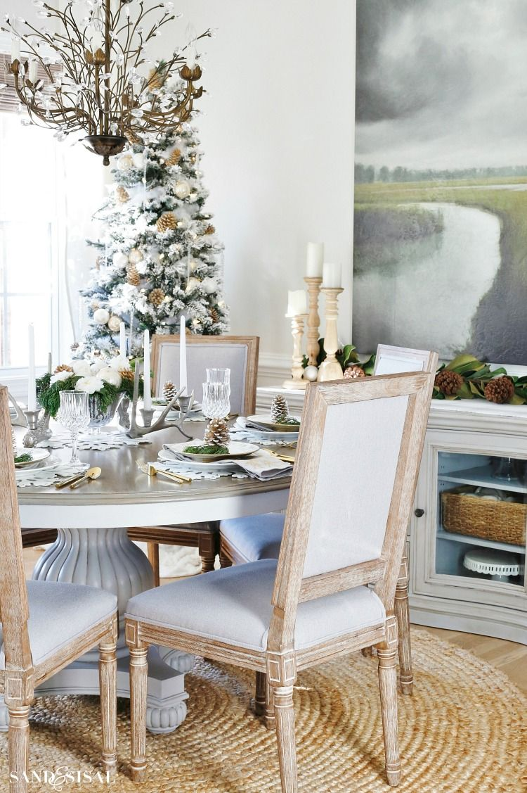 Rustic Glam Christmas Dining Room