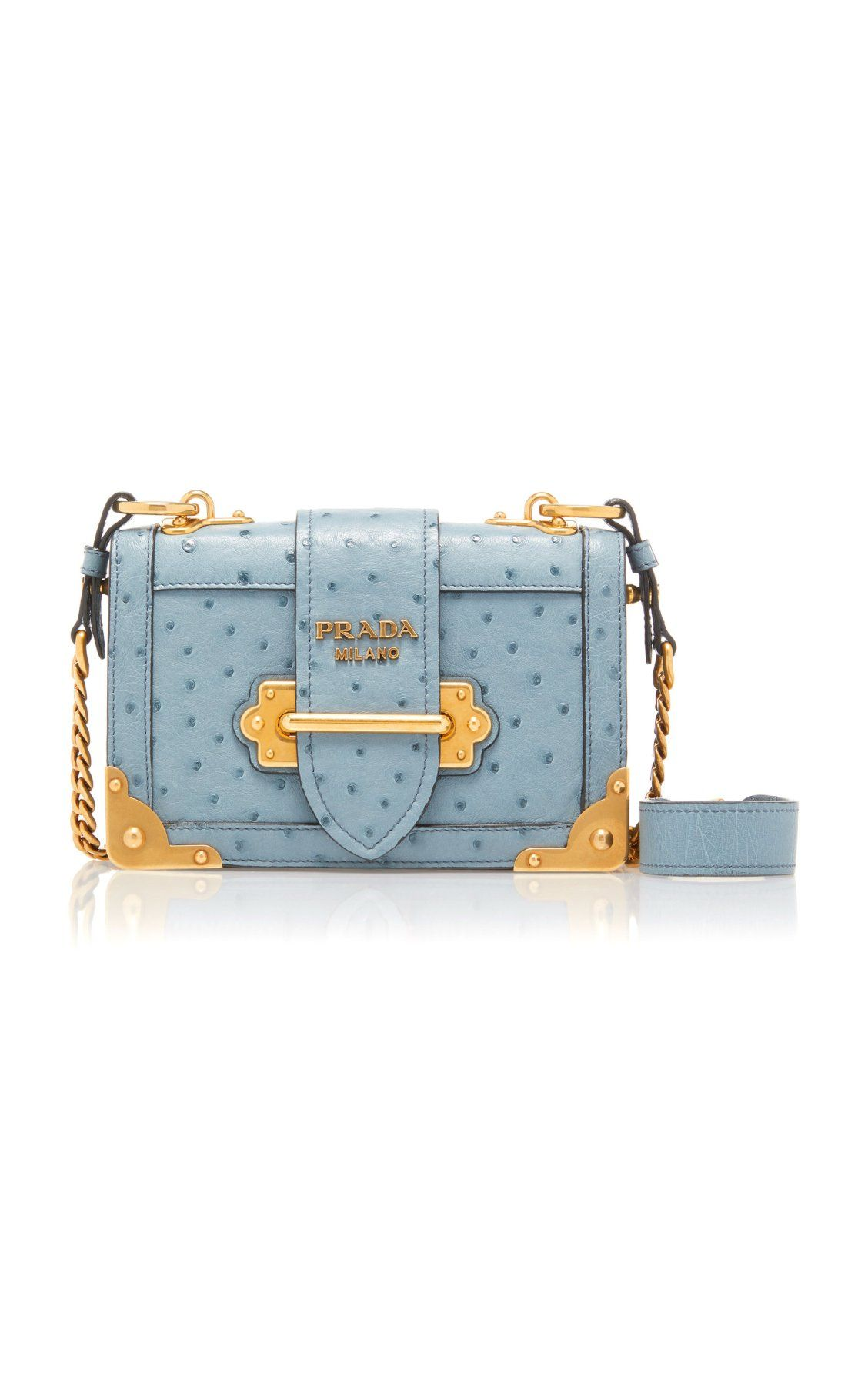 a4b5baf76d31 Ostrich Cahier Shoulder Bag by Prada | Accessories in 2019 | Bags ...