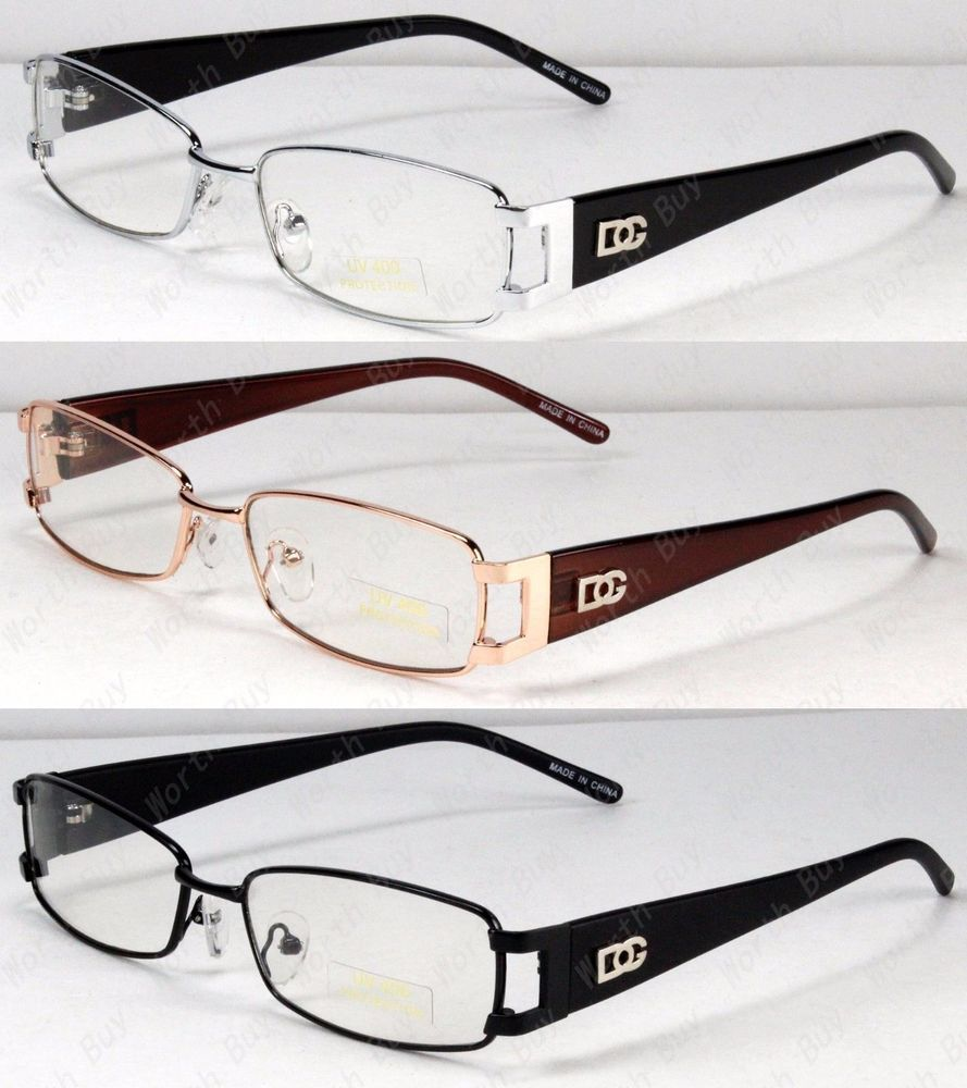 28e572355f fashion New Rectangular Fashion DG Eyewear Clear Lens Frame Glasses Mens  Womens Designer