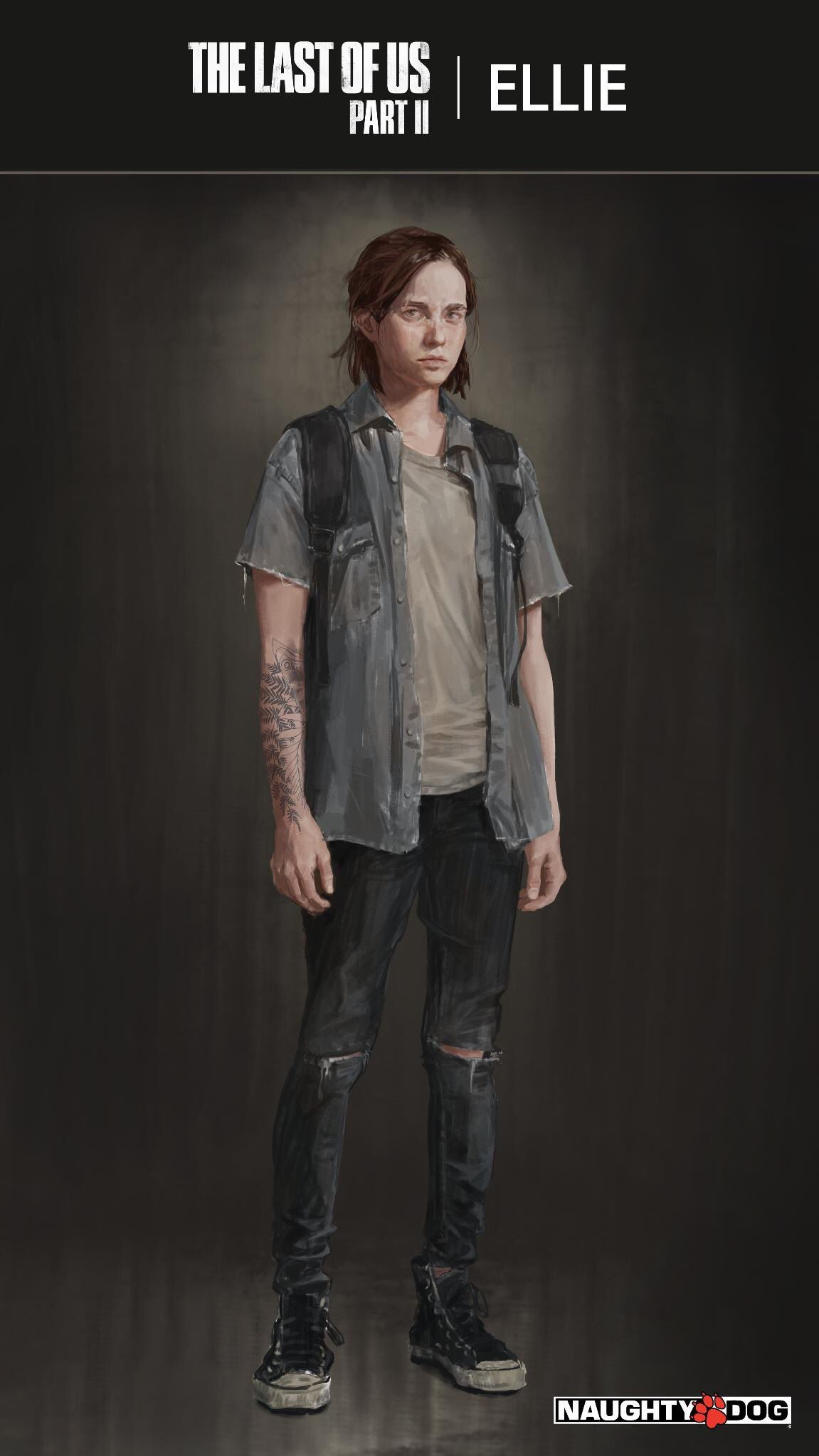 """""""Since so many asked for them, here're Ellie's Tattoo"""