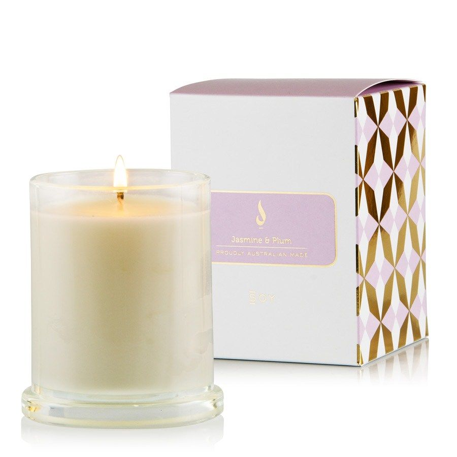Soy Deluxe Candle 1 Wick - Jasmine and Plum