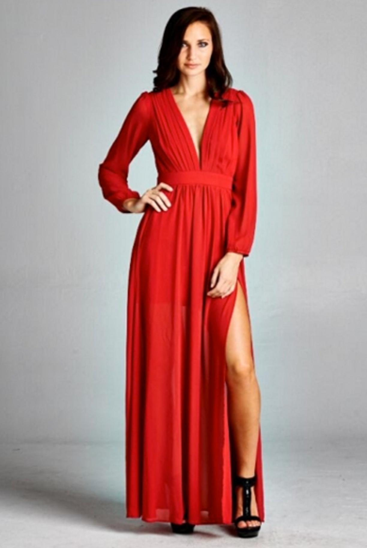 Lovestrucku dress red dream wedding pinterest long sleeve
