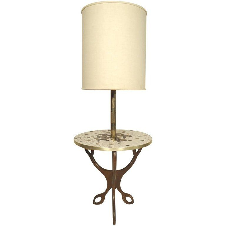 Mid Century Modern Floor Lamp With Table In 2019