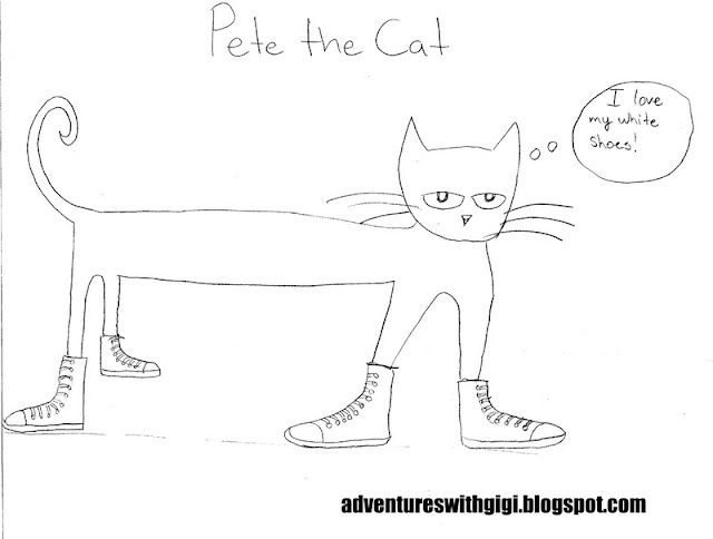 Pete Certainly Loves His White Shoes And His Red Shoes For That Matter Kids Love Singing The Song W Cat Coloring Page Coloring Pages Dinosaur Coloring Pages