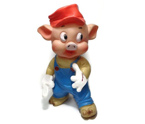 Rubber Squeaky Pig Practical Pig Three Little Pigs Walt