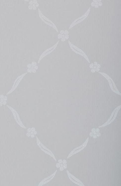 vita tapeter med silver
