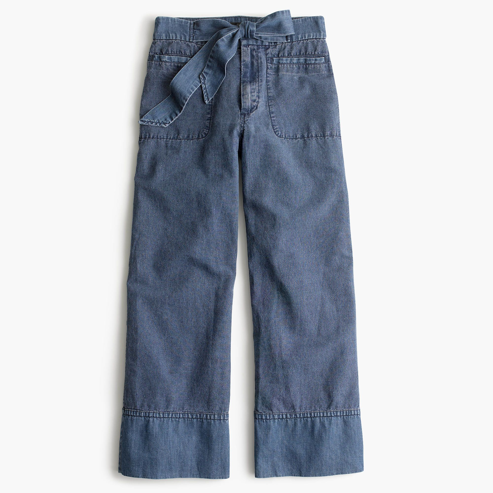 b2e6b1224d2bf4 Tencel Bowknot Wide Leng Capri Pants | summer pants | Pantalones, Ropa,  Como vestir