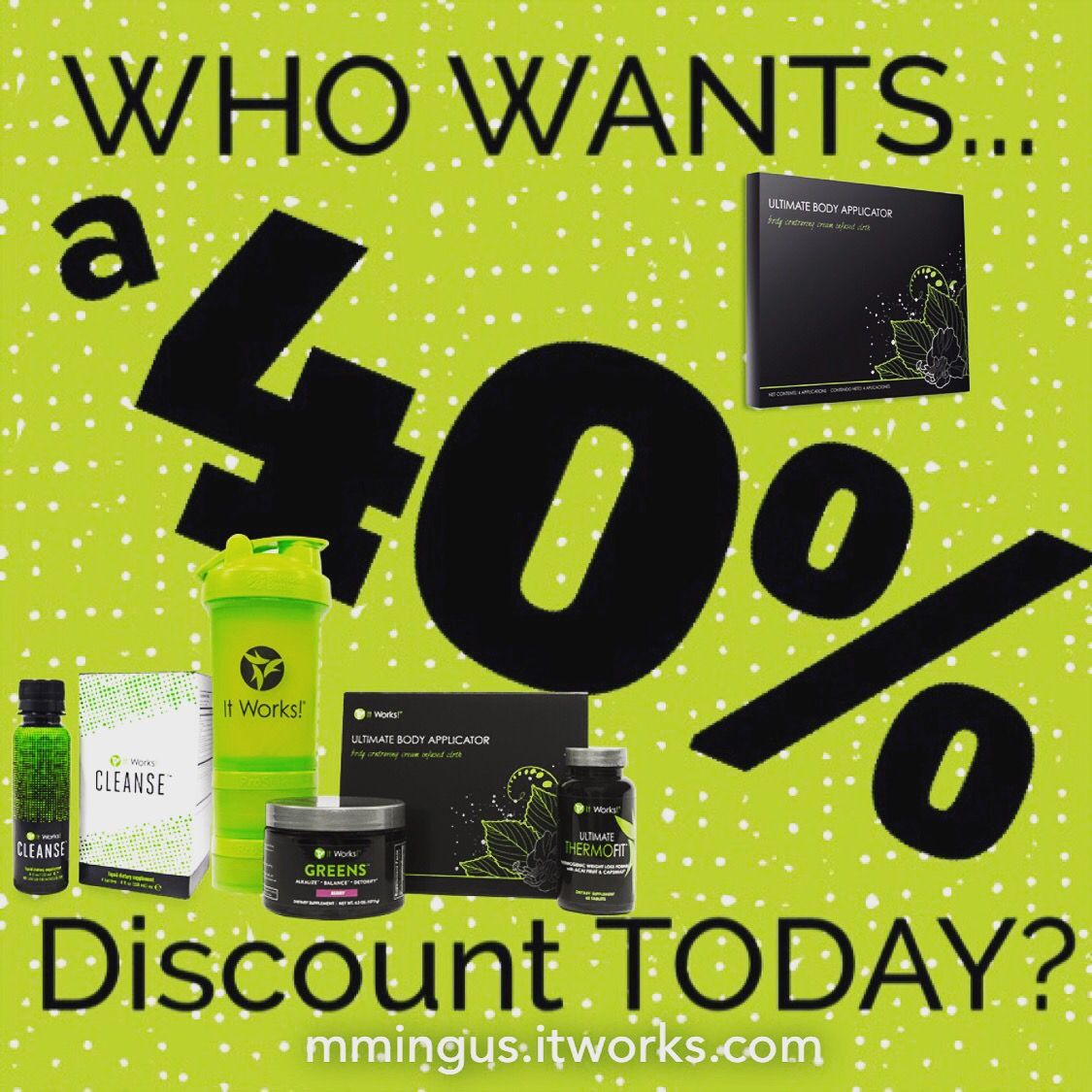 Happy St. Patrick's Day! become a LOYAL CUSTOMER today and get 40% OFF! PM me or text 40% to 385-209-4766
