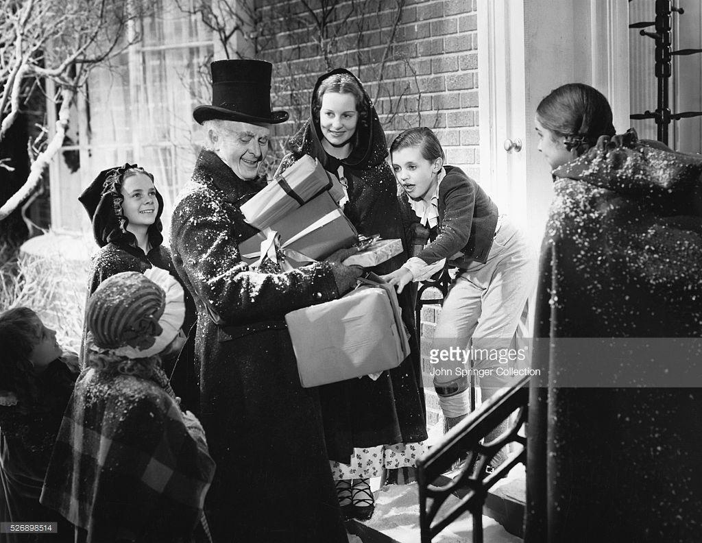 Reginald Owen stars as Ebenezer Scrooge in the 1938 motion