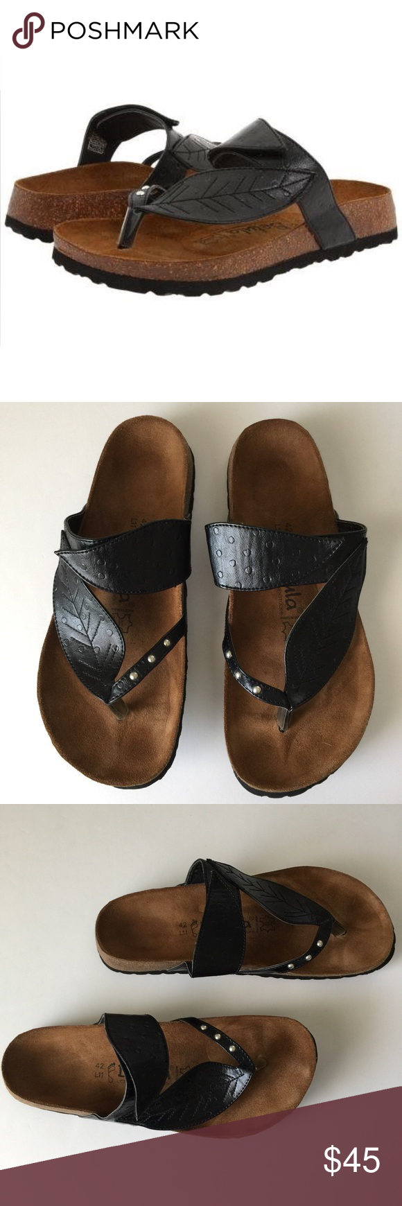 Black sandals size 11 - Birkenstock Betula Black Bombay Sandals Size 11