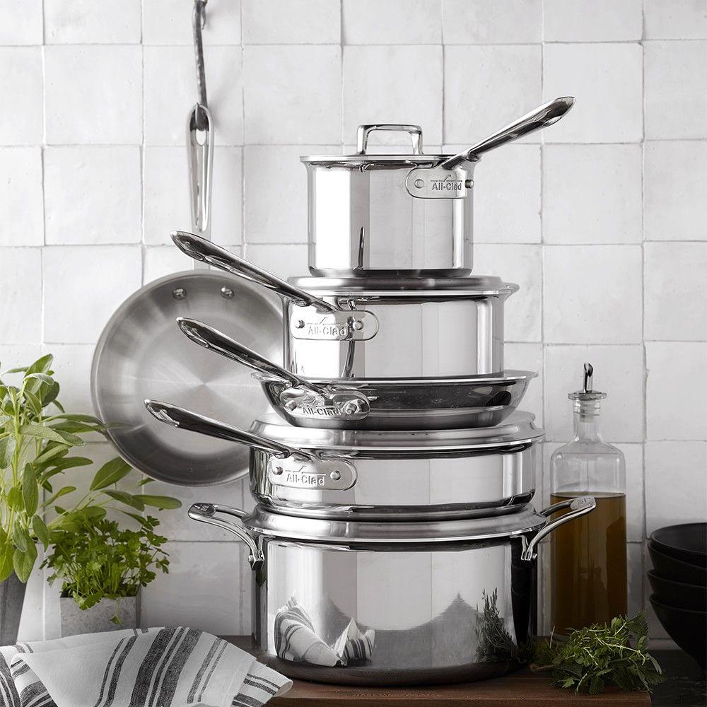 Allclad d5 stainlesssteel 10piece cookware set in 2020