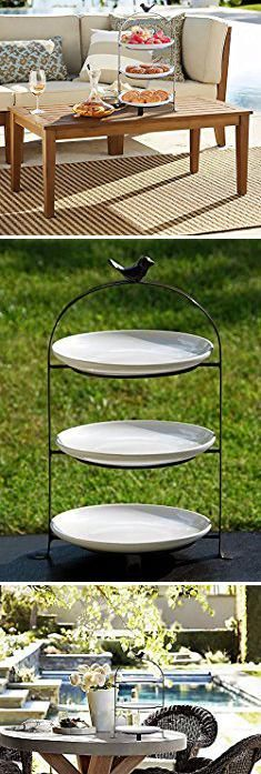 Tiered Stands For Serving 3 Tier Oval Bowl Set With Metal Rack Habilife Three Ceramic Fruit Bowl Serving Tiered Serving Stand Dessert Appetizer Cake Candy Tiered Serving Stand Tiered Stand Serving Plates