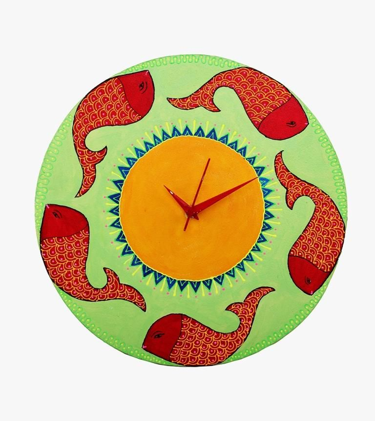 Designer Wooden Wall Clock    #homedecor #woodenclock #decorative #craftshopsindia