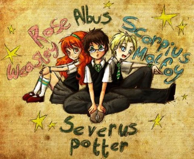 It Was So Unlikely Almost Forbidden That Rose Weasley Albus Severus Potter And Scorpius Harry Potter Fan Art Harry Potter Art Harry Potter Next Generation