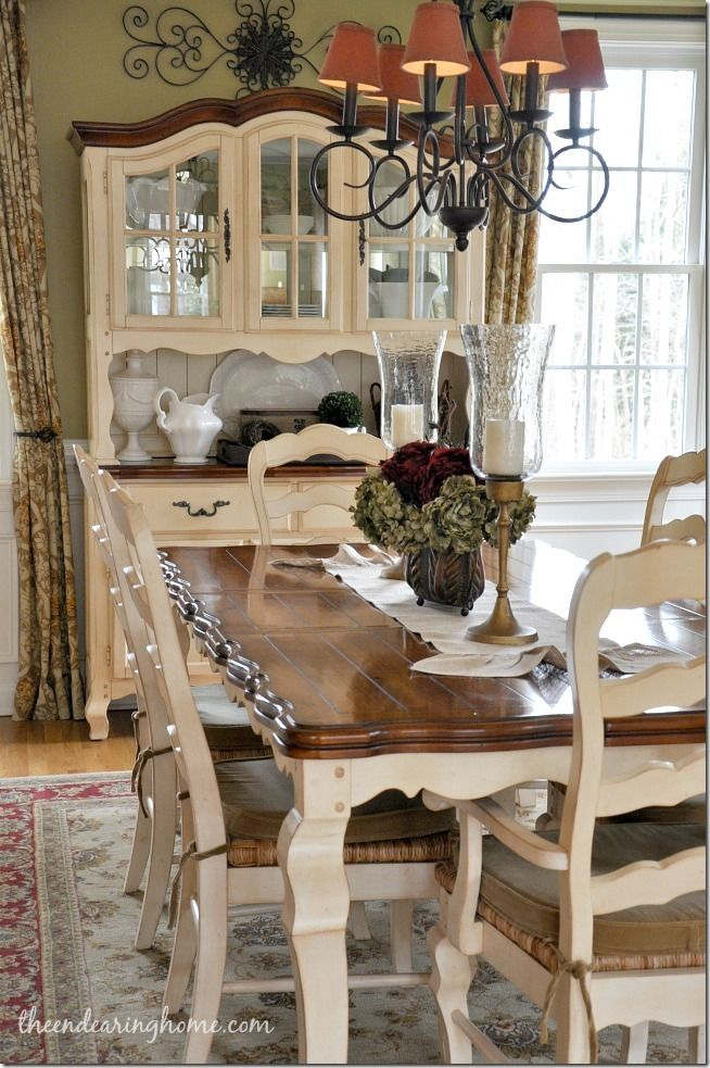 French Country Dining Room Decor, French Country Dining Room Furniture Painted