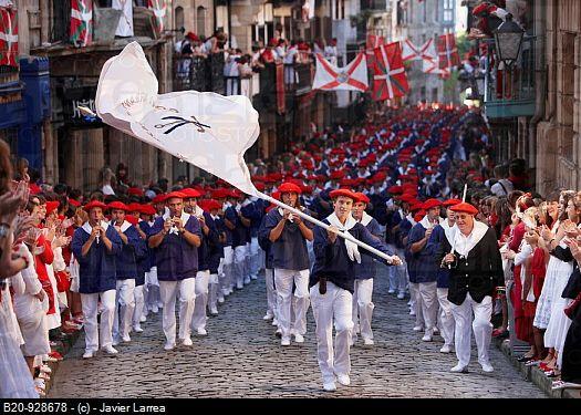 hondarribia guipuzoa | Alarde´ festival, Hondarribia, Guipuzcoa, Basque Country, Spain