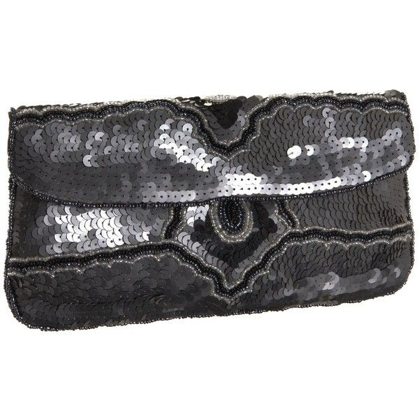 Kc Malhan 74l Sequin Clutch 39 Liked On Polyvore Featuring Bags Handbags