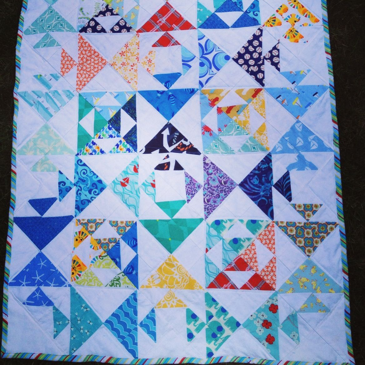 Kissing fish quilt sewing Pinterest