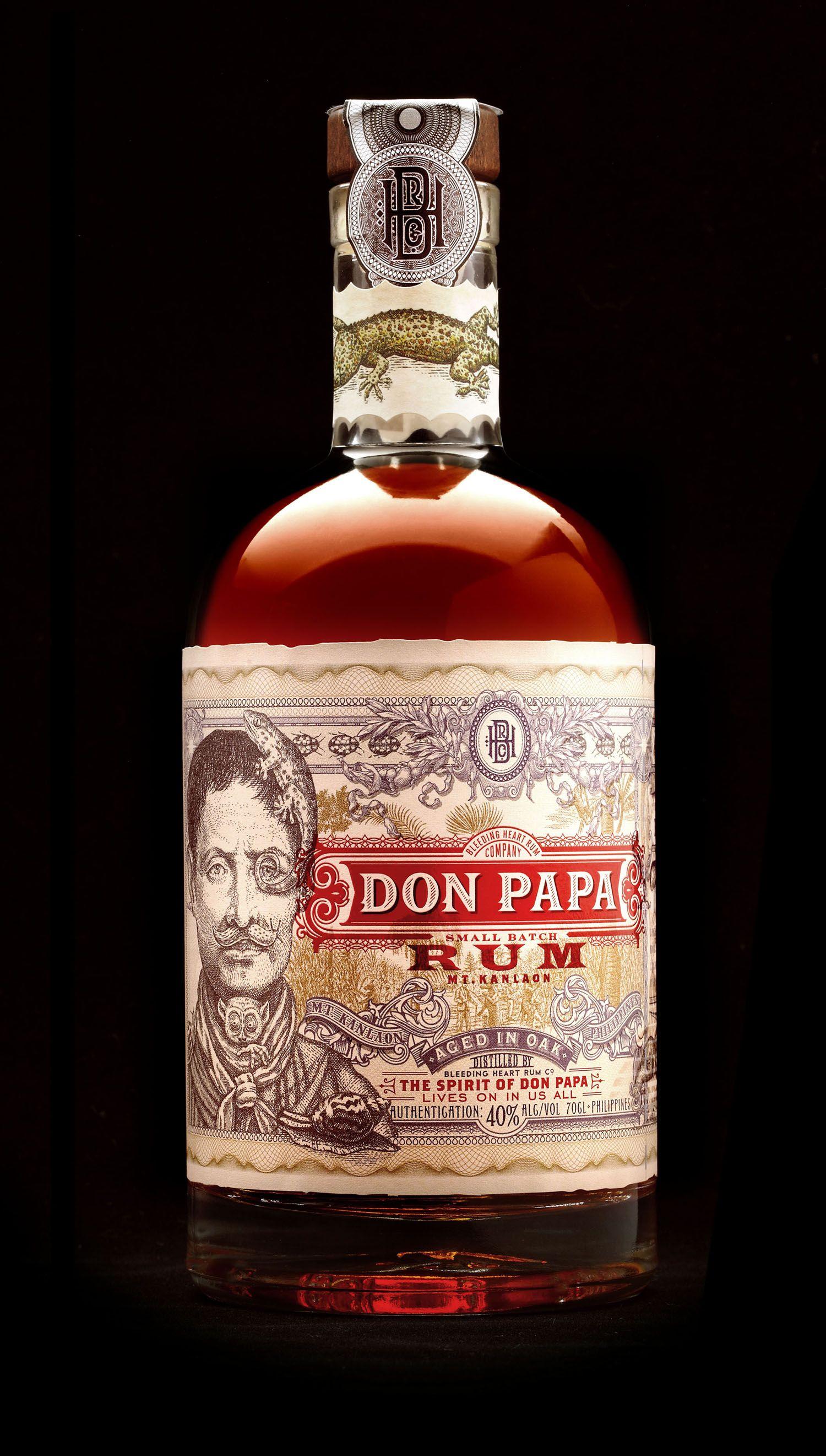 Don Papa Botellas De Licor Botella De Ron Diseno De Botella