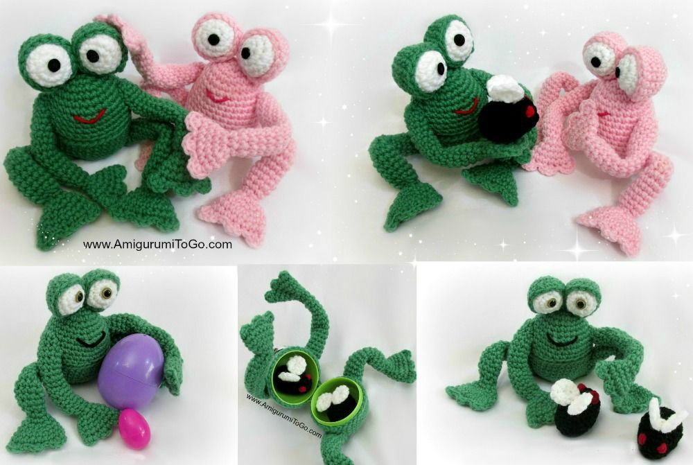 Froggy With Egg and Without ~ Amigurumi To Go | Amigurumi frogs ...